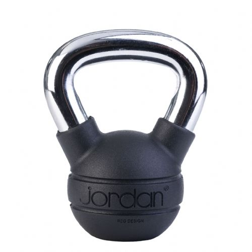 Jordan Black rubber kettlebell with chrome handle from £15.16